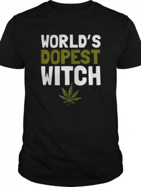 World's Dopest witch Weed Marijuana Funny Halloween shirt