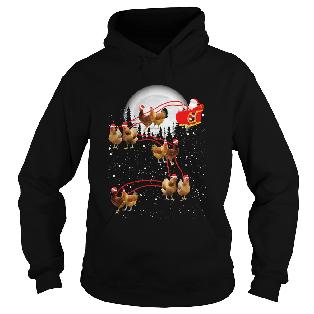 chicken with santa claus xmas Hoodie