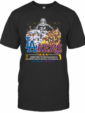 Los Angeles Lakers And Los Angeles Dodgers 2020 NBA Finals Champions T-Shirt