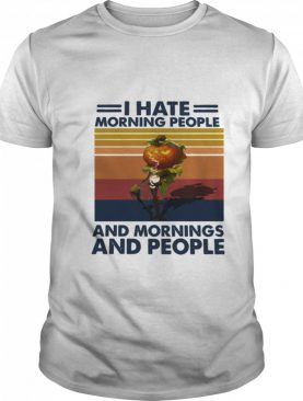 Pumpkin Halloween I Hate Morning People And Mornings And People Vintage shirt