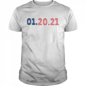 01 20 2021 Inauguration Day American Flag  Classic Men's T-shirt