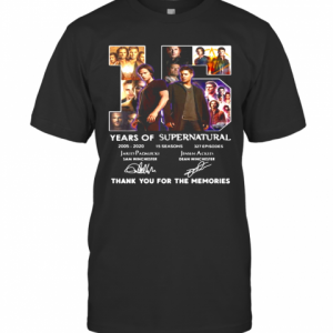 15 Years Of Supernatural 2005 2020 Thank You For The Memories Signature T-Shirt
