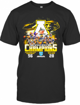 2020 Myrtle Beach Bowl Champions Appalachian State Mountaineers 56 North Texas Mean Green 28 T-Shirt