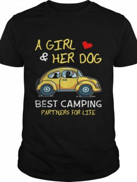 Camping Lover A Girl And Her Dog Best Camping Partners shirt