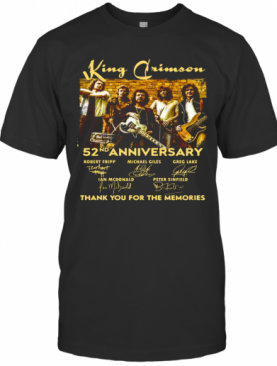 King Crimson 52Nd Anniversary Thank You For The Memories Signatures T-Shirt