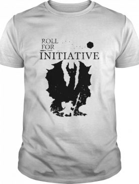 Roll For Initiative Rpg Table Top Gaming Silhouette shirt