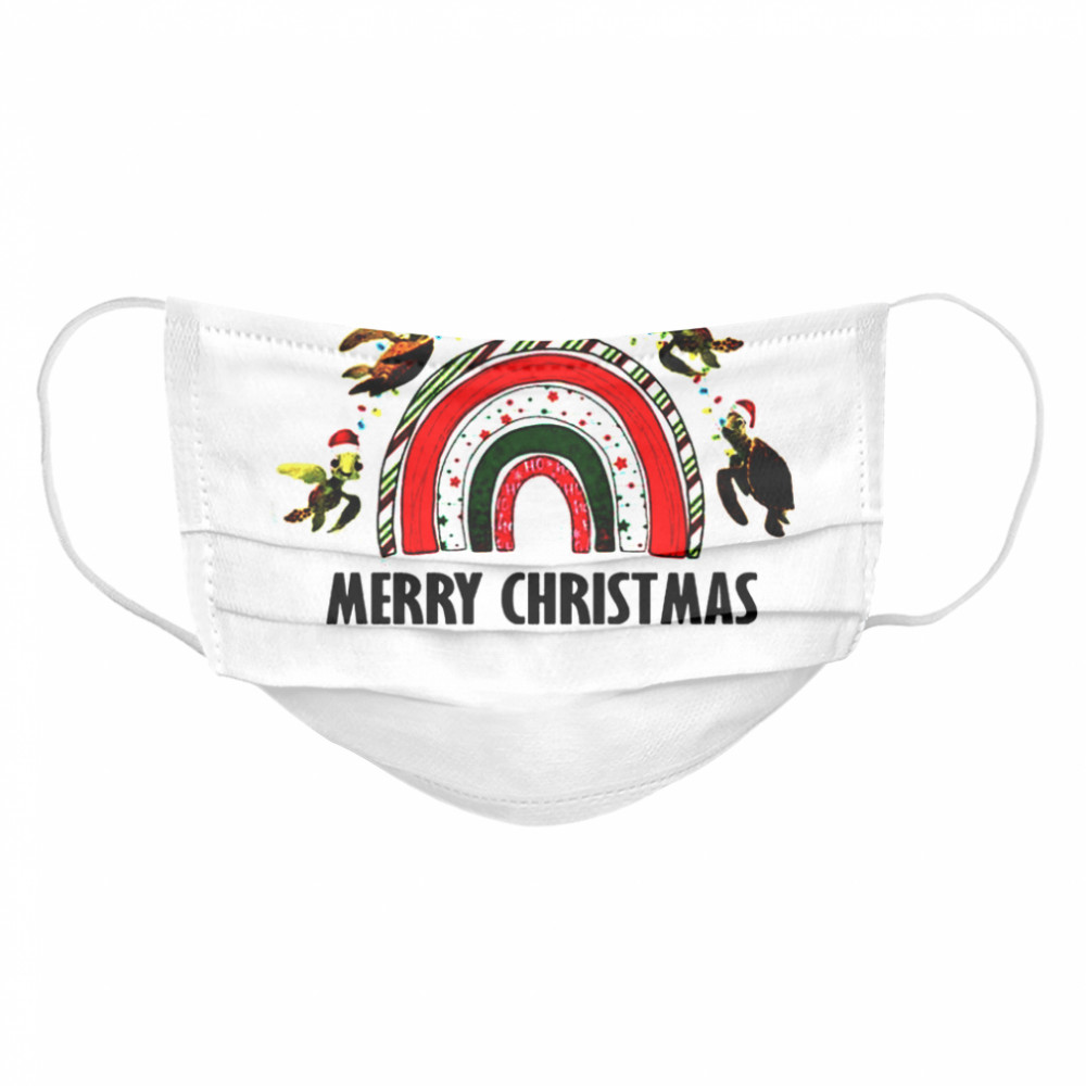 Turtles in Nemo rainbow Merry Christmas  Cloth Face Mask