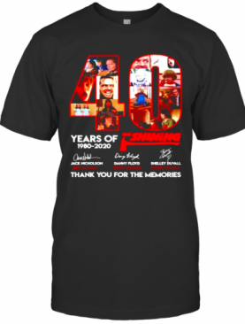 40 Years Of The Shining 1980 2020 Thank You For The Memories T-Shirt