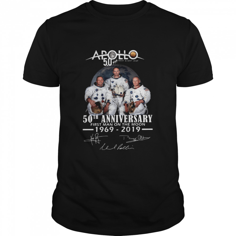 Apollo Next Giant Leap 52 Years Thank You For The Memories Signatures Classic Men's T-shirt