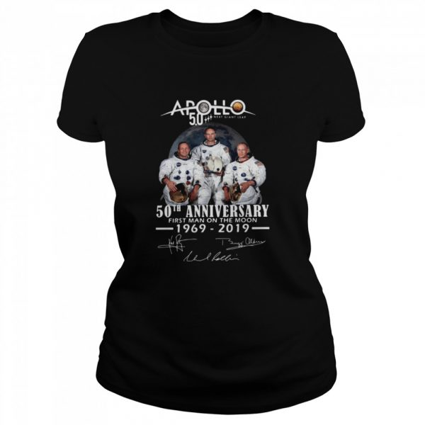 Apollo Next Giant Leap 52 Years Thank You For The Memories Signatures  Classic Women's T-shirt
