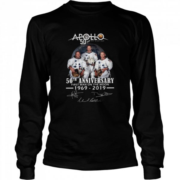 Apollo Next Giant Leap 52 Years Thank You For The Memories Signatures  Long Sleeved T-shirt