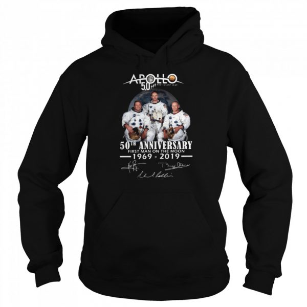 Apollo Next Giant Leap 52 Years Thank You For The Memories Signatures  Unisex Hoodie