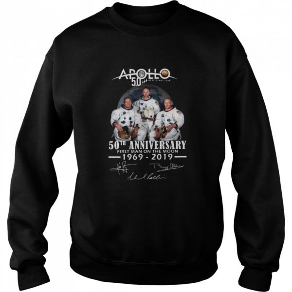 Apollo Next Giant Leap 52 Years Thank You For The Memories Signatures  Unisex Sweatshirt