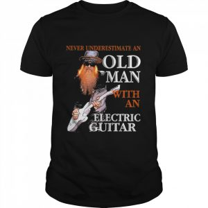 Never Underestimate An Old Man With An Electric Guitar  Classic Men's T-shirt