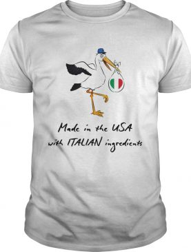 Stork Baby Italian Made In The Usa With Italian Ingredients shirt