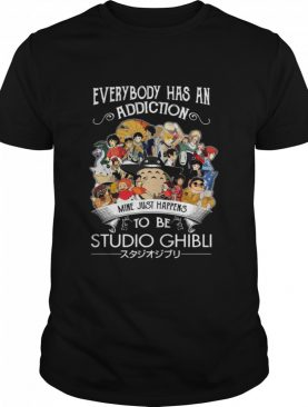 everybody has an addiction mine just happens to be Studio Ghibli shirt
